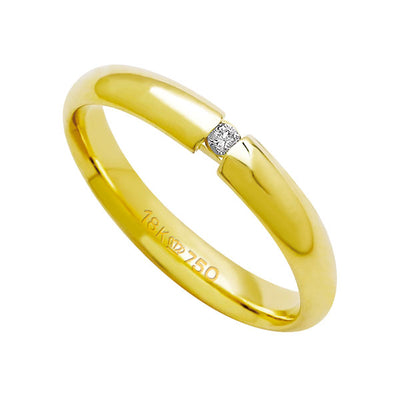 Alliance-Anatomic-18k-Gold-750-with-1-Brilliant-3.50-Points-Width-3.50mm-Height-1.70mm