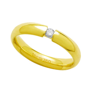 Alliance-Anatomic-18k-Gold-750-with-1-Brilliant-11.00-Points-Width-4.00mm-Height-2.00mm
