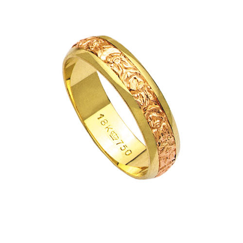 Alliance-Gold-18k-Gold-750-and-Red-Width-5.00mm-Height-1.10mm
