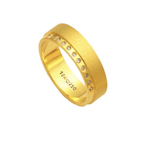 Alliance-Anatomic-18k-Gold-750-with-11-Brilliant-1.25-Points-Width-6.00mm-Height-1.70mm