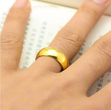 Treasure Jewelry® A Pair Of  Pure 999 Solid 24K Yellow Gold Ring Men's Smooth Wedding Bands