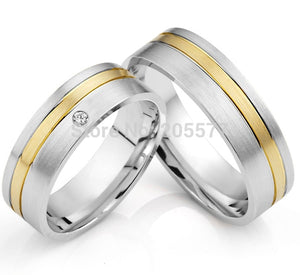 Treasure Jewelry® classic gold inlay titanium health his and hers western wedding bands couples ring sets
