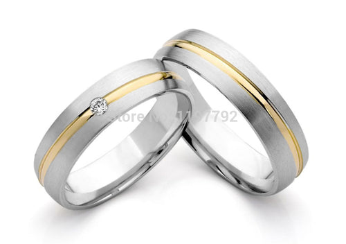 Treasure Jewelry® custom tailor titanium engagement ring wedding bands his and hers lover bridal rings sets
