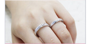 Treasure Jewelry® Men & Women Natural Diamond 18k White Gold Engagement Wedding