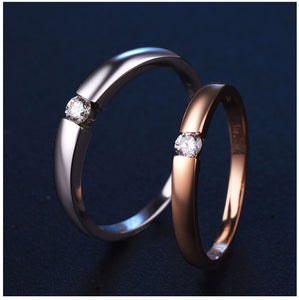 Treasure Jewelry® 18K Gold  & White Gold Diamond Couple Ring Wedding Ring