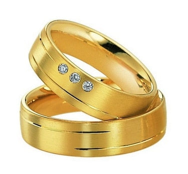 Treasure Jewelry® custom Gold Plating health titanium engage wedding Rings women men