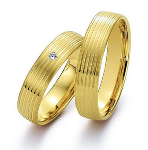 Treasure Jewelry®  Yellow Gold Plating health titanium Fashion jewelry his and her wedding bands engagement Rings sets