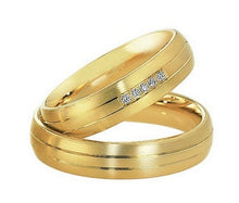 Treasure Jewelry® custom yellow Gold Plating health titanium  gold his and her couples rings sets for wedding