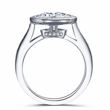 Treasure Jewelry® Moissanite Diamond Ring 5Carat ct 11mm Round Cut  Lab  diamond solitaine in 14K 585 White Gold Engagement&Wedding for womens
