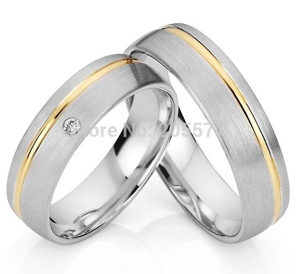 Treasure Jewelry® 2014 fashion classic jewelry silver Gold Plating Engagement Wedding Rings