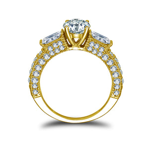Treasure Jewelry® 10k Solid Yellow Gold Engagement rings Diamond Women Rings Fine Jewelry