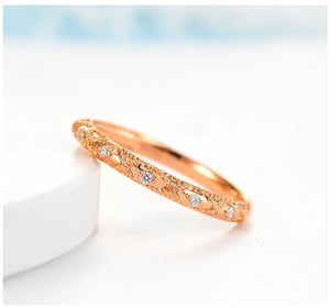 Treasure Jewelry® 18K Gold Diamond Ring Retro Wedding Propose Party Women Men Lady Miss Girl Gift Ring Role Natural Real Solid 750 Good Hot Custom