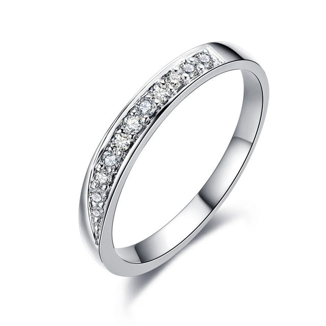 Treasure Jewelry® 18K White Gold (AU750) Wedding Ring 0.11 CT Certified I/SI1 Natural Diamond  Couple