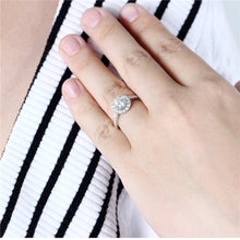 Treasure Jewelry® Moissanite Engagement Ring 14K White Gold GH Color 6.5MM Women