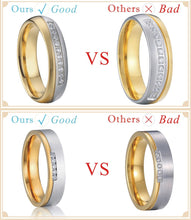 Treasure Jewelry® Quality surgical titanium crown wedding bands engagement men and women