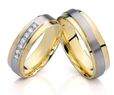 Treasure Jewelry® affordable europe style cz engagement couples wedding bands rings sets  jewelry