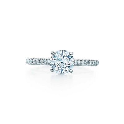 reasure Jewelry® DF Moissanite Diamond 1 CT Engagement Rings with 20pcs side Moissanite