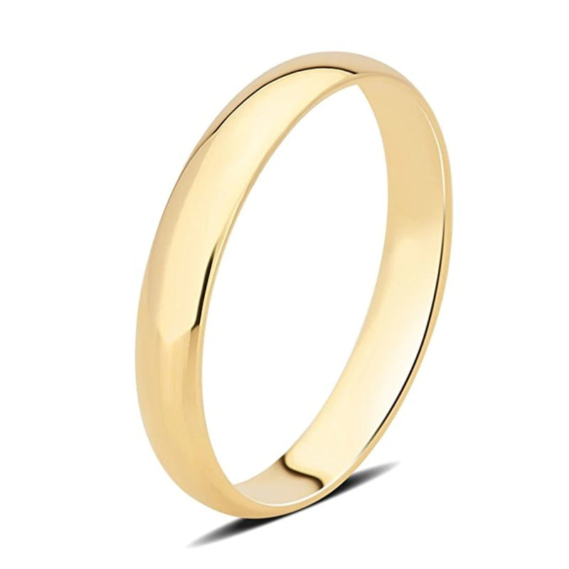 Treasure Jewelry® 18K Yellow Gold (AU750) Wedding Ring Certified Male Ring Luxurious Engagement rings