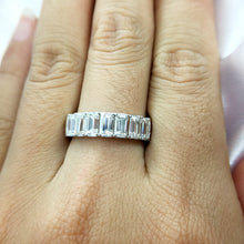 Treasure Jewelry®  Engagement Wedding Band Moissanite Half Eternity Diamond Band For Women