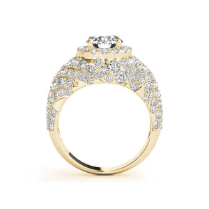 Treasure Jewelry® Woman 14k Yellow gold Simulated diamond ring Luxury Fashion Jewelry Engagement Rings