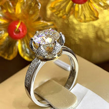 Treasure Jewelry® Wedding Ring For Women DF 1CT Au750 Color Round Brilliant Cut Moissanite Ring Lab Diamond Ring Solid 18K White Gold