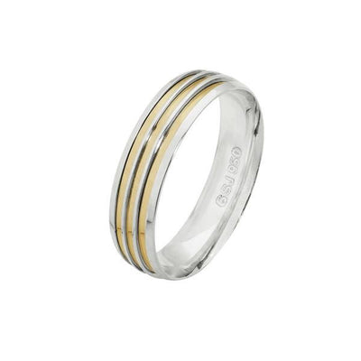 Alliance-925-Anatomical-6-mm-with-3-fillets-in-Gold