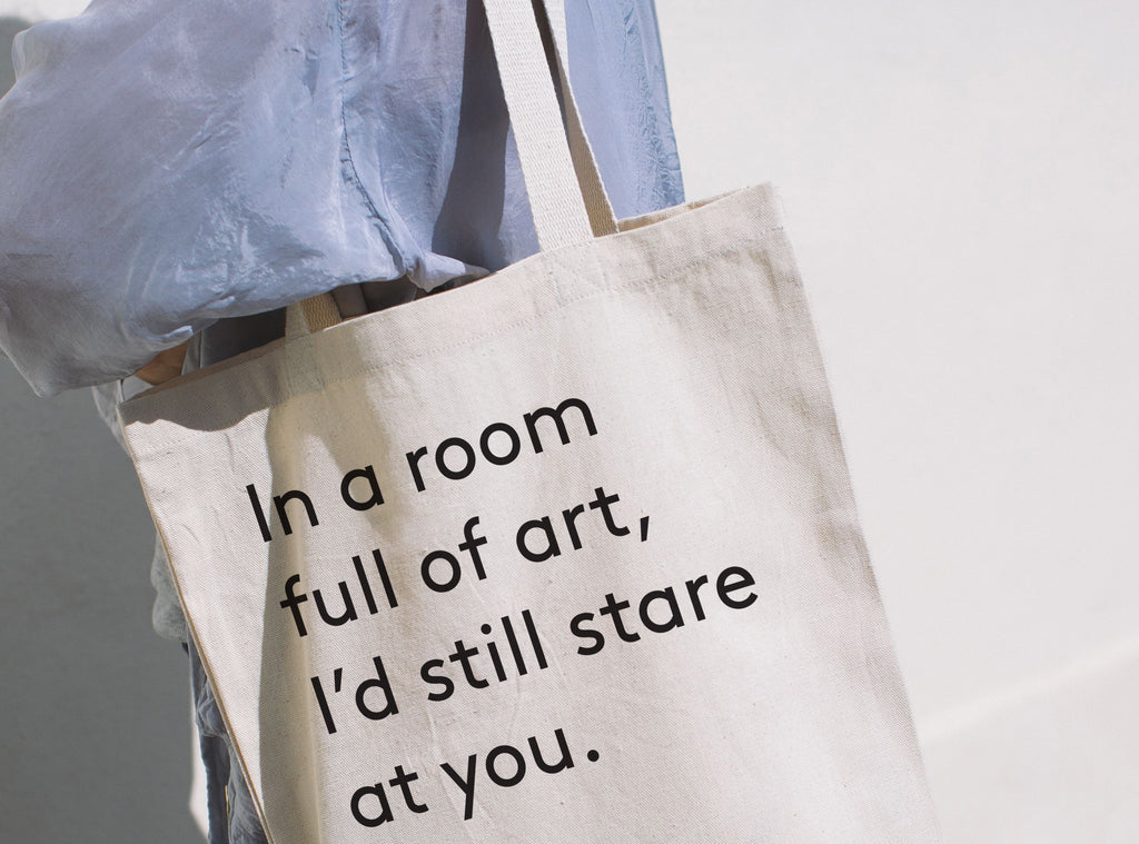 In a Room Full of Art Tote Bag