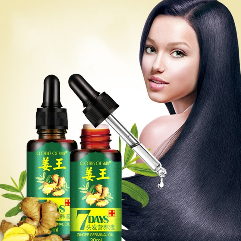 7-Days hair growth ginger oil