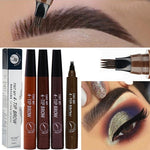 Microblading Tattoo Eyebrow Pen Waterproof Long Lasting Fork Tip Makeup Ink Sketch Eye Brow Pencil