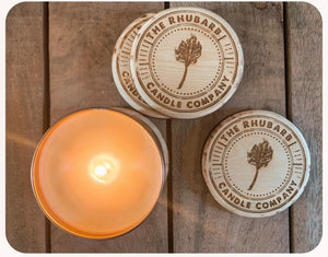 Reclaimed Wood Candle Coaster