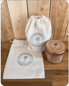 Natural Cotton Bag For Candles