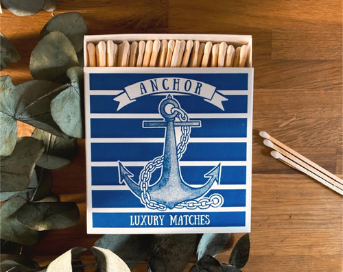 Luxury Large Boxed Matches Anchor Design