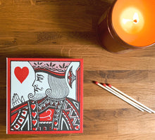 Load image into Gallery viewer, Luxury Large Boxed Matches King & Queen Of Hearts Design