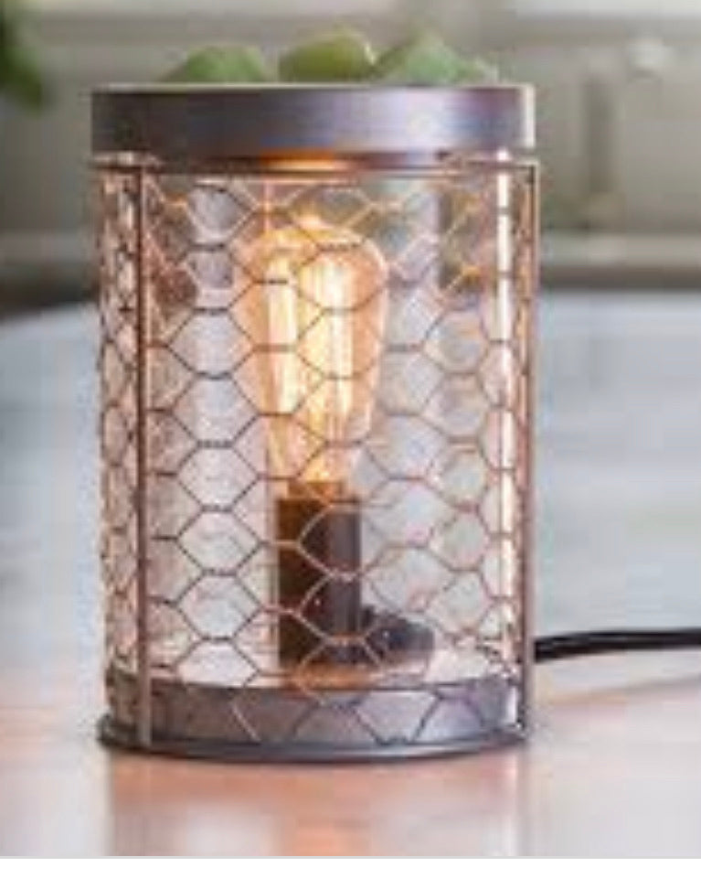 Chicken Wire Edison Light  Electric Wax Melter