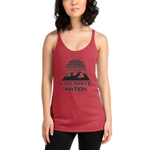 Load image into Gallery viewer, LBN Racerback Tank. BLK Logo.
