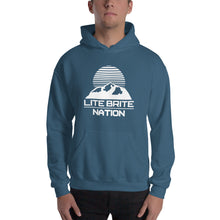 Load image into Gallery viewer, LBN Hoodie. WHT Logo.