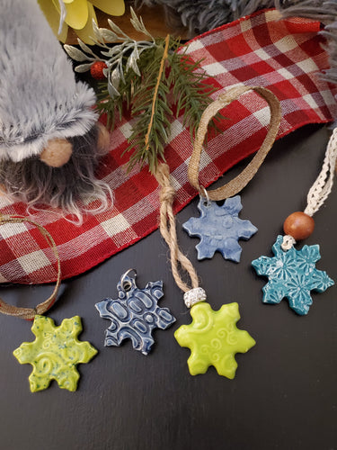 Snowflake Christmas Ornament $15 ea