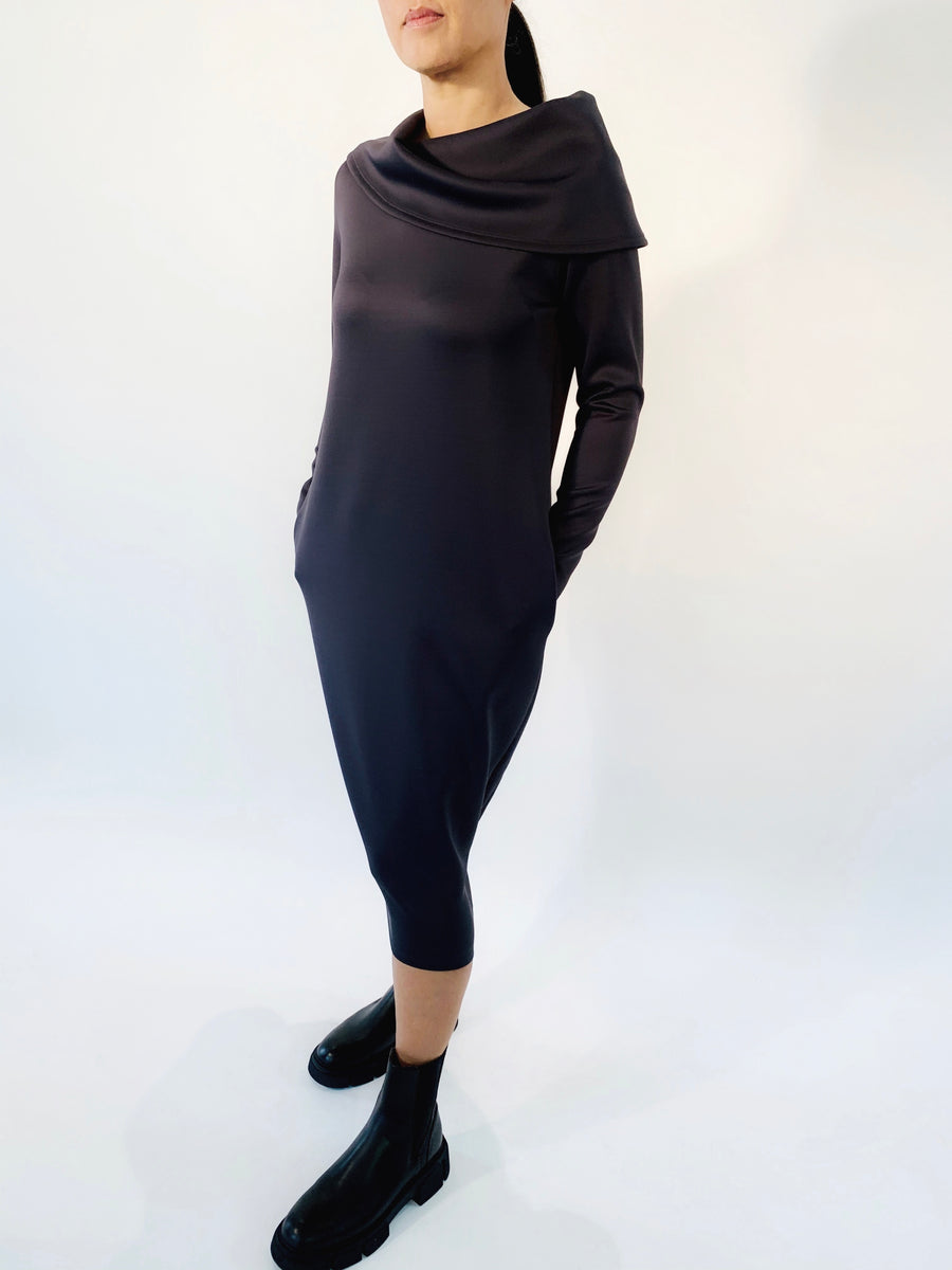 Shawl Collar Dress - PERIPHERY