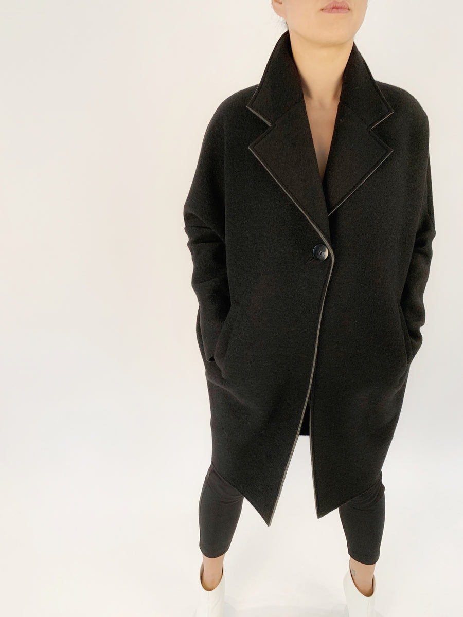 Single Button Neoprene Coat - PERIPHERY