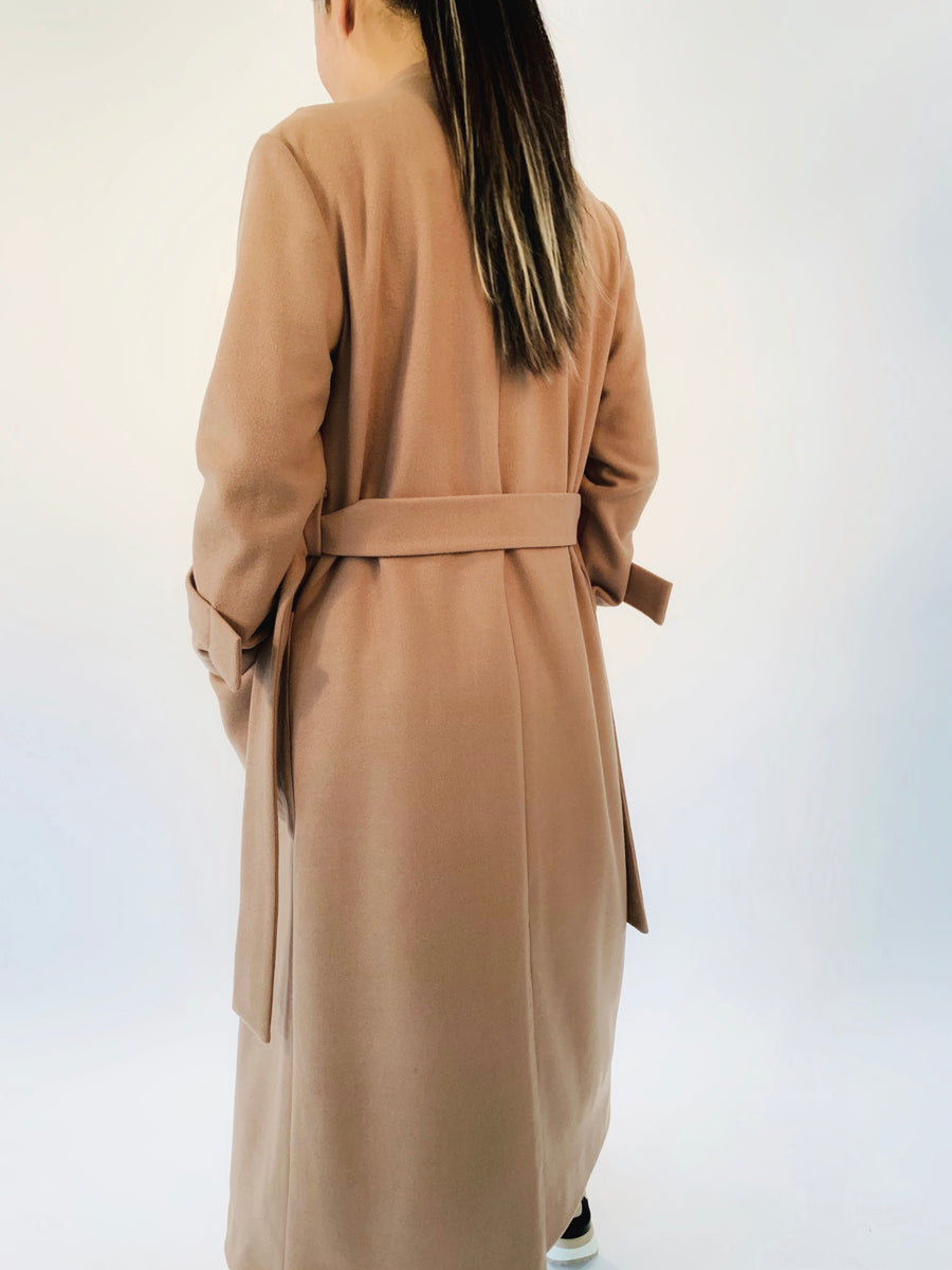 Wrap Up Coat in Camel - PERIPHERY