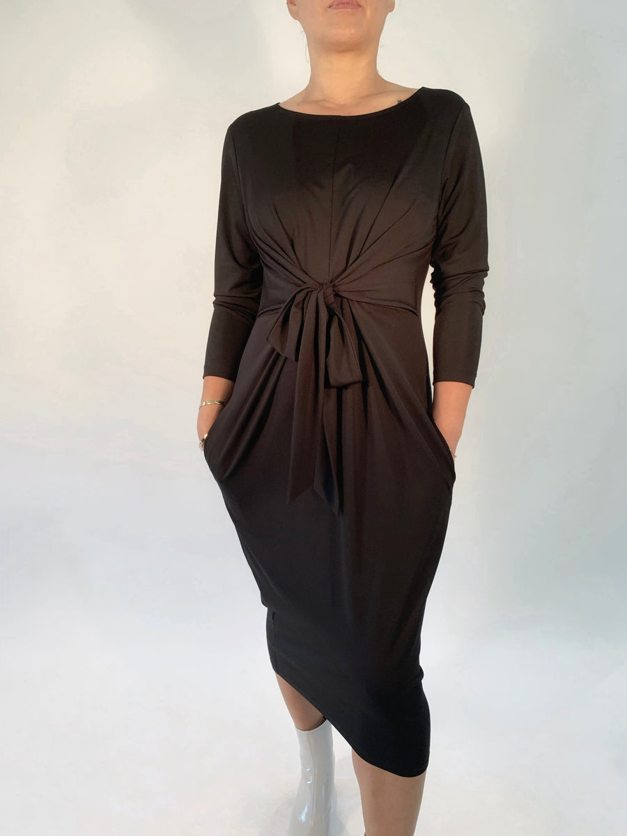 Tie Waist Dress in Black - PERIPHERY