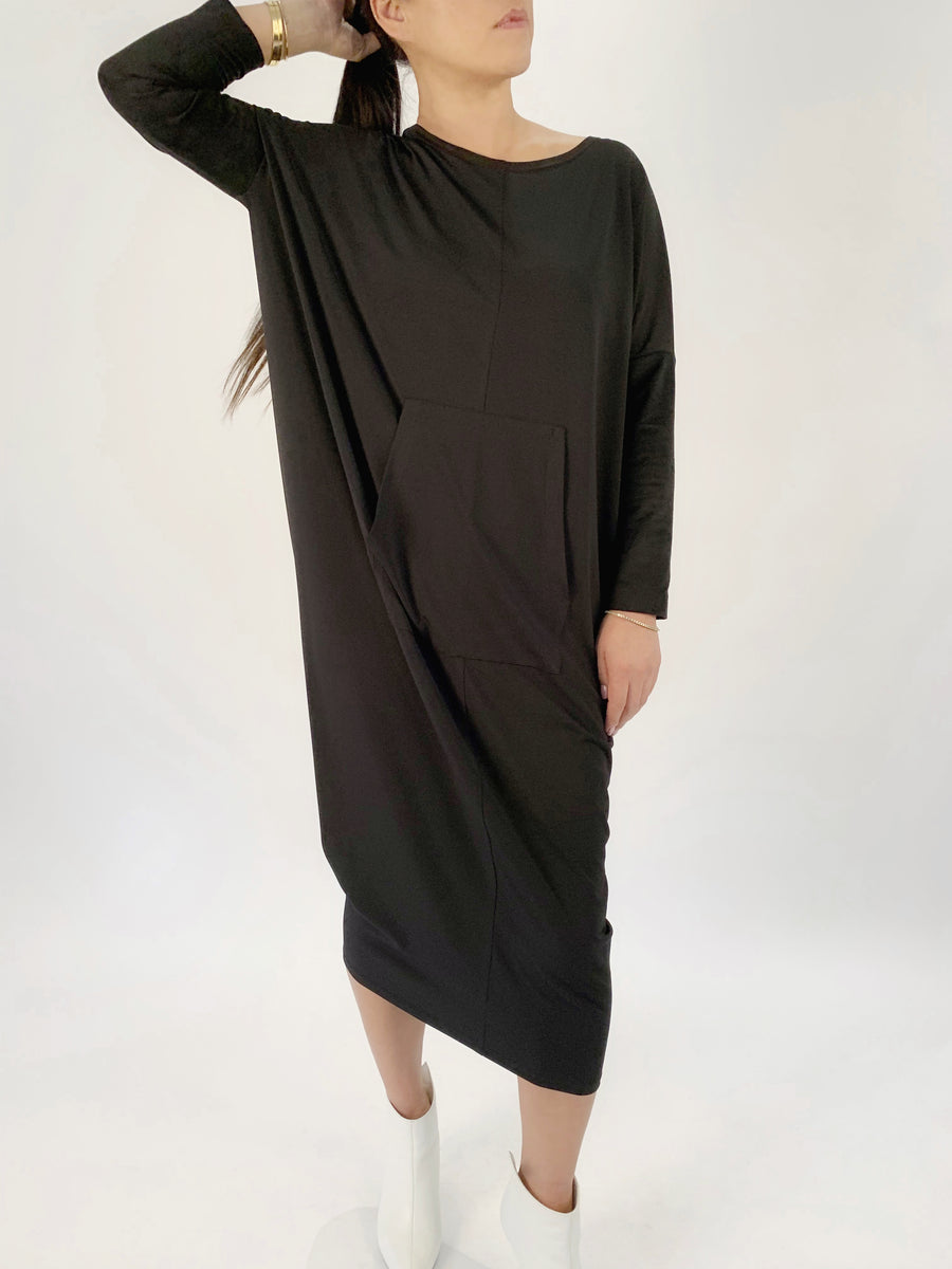 Suede Sleeve Jersey Dress - PERIPHERY