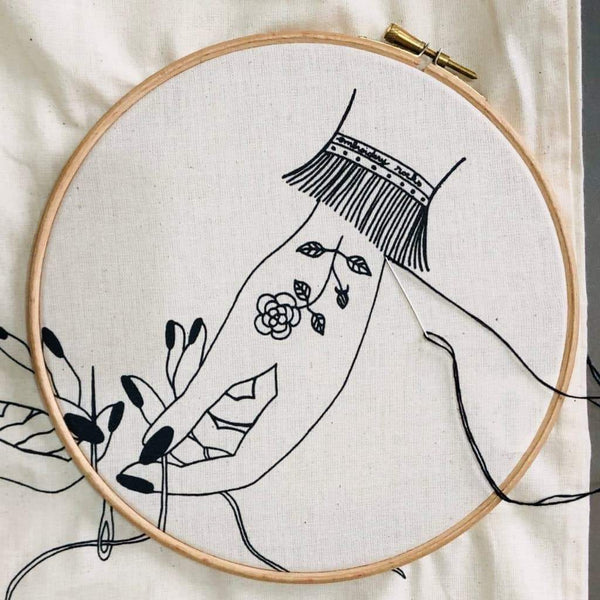 Embroidery Stitch-a-long. Part 3: let's start!