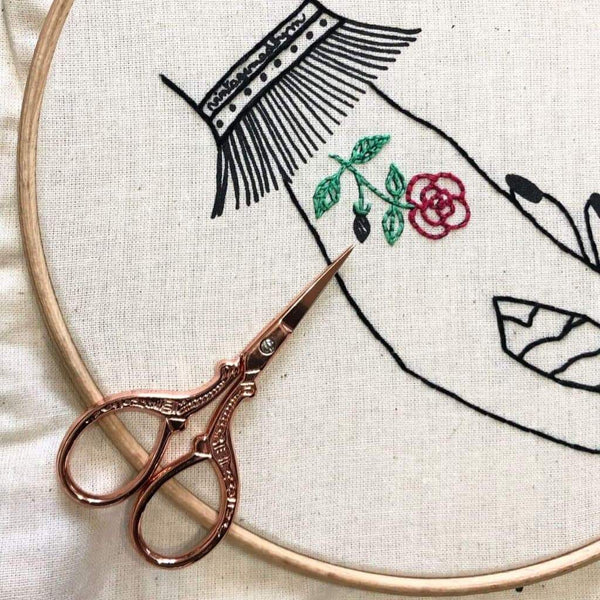 Embroidery Stitch-a-long. Part 4: let's embroider the ROSES!!!