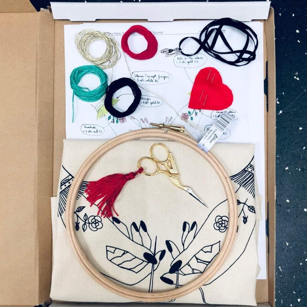 Embroidery Stitch-a-long. Part 1 gather supplies - VintageMadbyM