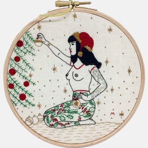 Tattooed Ladies Embroidery Kit - VintageMadbyM