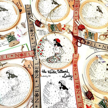 Load image into Gallery viewer, The Christmas Tattooed Lady Embroidery Kit - VintageMadbyM