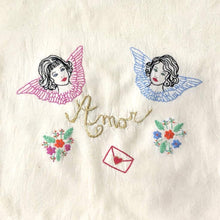 Load image into Gallery viewer, Embroidery PDF Pattern - Angels - ToteBag - VintageMadbyM