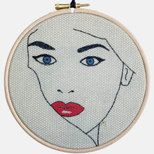 Load image into Gallery viewer, Femme Fatale, Embroidery Kit - VintageMadbyM