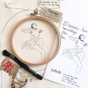L'Amour Looks Like You, Embroidery Kit - VintageMadbyM